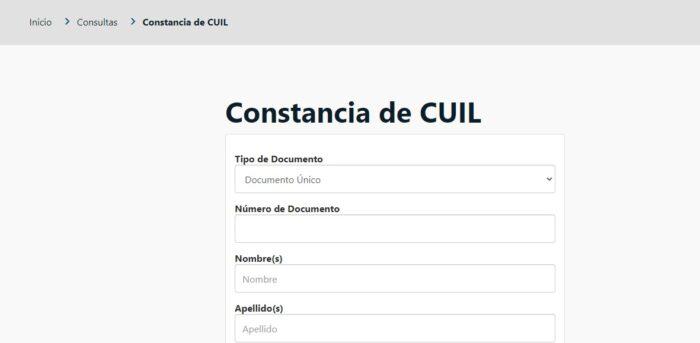 Código Único de Identificación Laboral (CUIL)